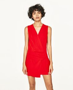 Image 6 of SHORT JUMPSUIT WITH KNOT from Zara