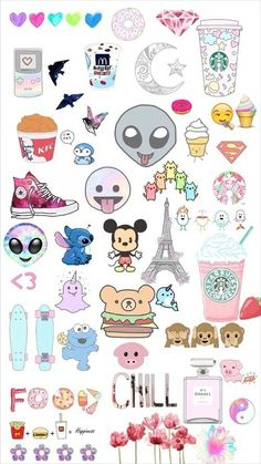 Find images and videos about wallpaper, background and emoji on We Heart It - the app to get lost in what you love. Tumblr Stickers, Phone Stickers, Cute Stickers, Planner Stickers, Emoji Wallpaper, Tumblr Wallpaper, Cute Backgrounds, Cute Wallpapers, Tumblr Png