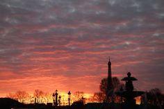 Paris sunsets.