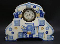 Vintage Airbrush Spritzdekor Art Deco Pottery Czech Clock Celebrate | eBay