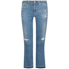Adriano Goldschmied The Jodie 7/8-Jeans High-Rise Slim Flare Crop - Hellblau (24, 25, 26, 27, 28, 29, 30) Ich brauche so eine Cropped Jeans #cropped #jeans #flareleg #schlagjeans