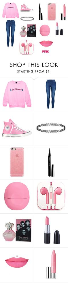 """""""PINK Everywhere"""" by soswitharianaa ❤ liked on Polyvore featuring Converse, Casetify, Marc Jacobs, Eos, PhunkeeTree, Anastasia Beverly Hills, Clinique, women's clothing, women and female"""
