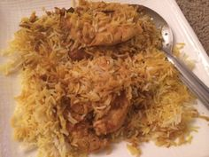Chicken and Rice Biryani Rice Recipes, Asian Recipes, Chicken Recipes, Cooking Recipes, Armenian Recipes, Rice Pasta, Eastern Cuisine, Middle Eastern Recipes, Arabic Food
