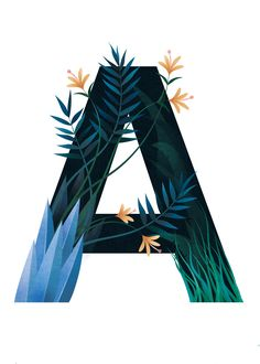 Jungle Alphabet Illustration. A is for AMAZON! By Paula Kuka | Common Wild