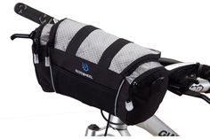 Cycling Bike Bicycle Handlebar Front Bar Bag Basket Velcro Silver