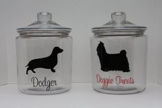 Personalized Dog Treat Jar - Idea for 1 gallon pickle jar