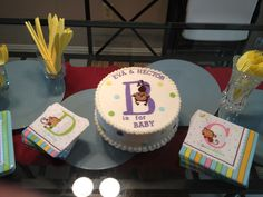 Vegan Baby Shower cake with Baby Feet vegan cakes houston