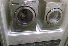 I needed to raise the washer and dryer so I don't have to bend over as much to load and unload. The original washer/dryer pedestals cost around $275 each. So why not IKEA hack it for the same price as