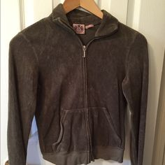 Juicy Couture terry cloth zip up, size small. Terry cloth, size small. Comes from a smoke and pet free home, gently worn. There's no stains or tears. Lmk if you have any questions (: Juicy Couture Jackets & Coats
