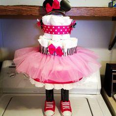 Minnie Mouse diaper cake!!