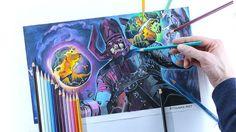 https://flic.kr/p/TPC94o | Pencil color drawing of Galactus.  Video: https://youtu.be/uQhzGbhw_tE | #galactus #drawing #marvel #art