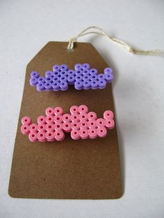 hama bead moustache brooches