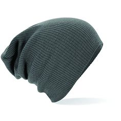 New Mens Oversized Slouch Stretch Beanie Hat- 4 Colours (Light Grey)