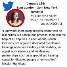 Pleased to welcome my colleague @Claire_Morgant of Worldline to #Axschat this week