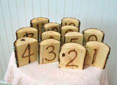 Rustic Wedding Table Numbers Wood Slice Wood by SweetHomeWoods, $45.00