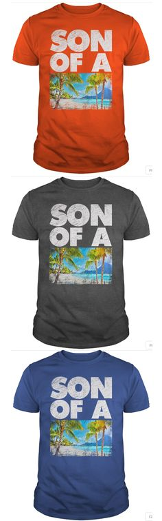 Funny T-shirt Son of a beach. Cool design and multi color. Funny Tees, Funny Tshirts, Design Quotes, Shirts With Sayings, Sons, Cool Designs, Beach, Mens Tops, T Shirt