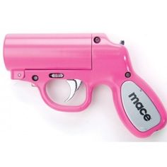 The Mace Pepper Gun is the most accurate non-lethal self defense spray available. Expiration: Pepper spray has a shelf life of 4 years from date of manufacture. Each pepper spray unit is labeled with an expiration date. Girly Things, Things I Want, Awesome Things, Crazy Things, Lovely Things, I Love Music, Pink Guns, Just In Case, Just For You