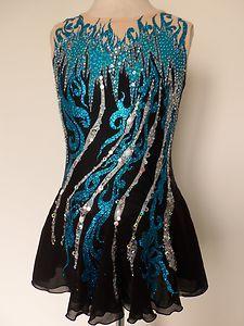 New Ice Skating Twirling Baton Dress Adult Large | eBay