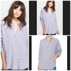 Free people  oversize tunic NEW Free people button up, down  boy frend tunic Free People Tops Tunics