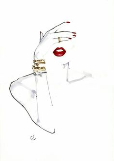 Marc-Antoine Coulon Image - Women& clothing - Marc-Antoine Coulon illustration You are i - Illustration Mode, Nature Illustration, Watercolor Fashion, Fashion Painting, Fashion Sketches, Fashion Illustrations, Illustration Fashion, Makeup Illustration, Jewelry Illustration
