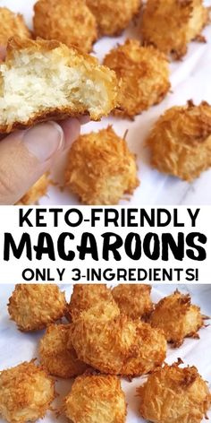 Best keto cookies with shredded coconut. This recipe for keto coconut macaroons tastes HEAVENLY and is so easy to make that even the worst baker can't mess this one up! They are also gluten free, sugar free, low carb, and perfect for Christmas Keto Foods, Ketogenic Recipes, Keto Snacks, Ketogenic Diet, Keto Cookies, Coconut Cookies, Shortbread Cookies, Recipe For Coconut Macaroons, Oat Flour Cookies