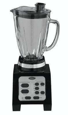 Liquidificador Oster BRLY07-B com 7 Velocidades 600 watts com Lâminas que Giram para os Dois Lados - Preto