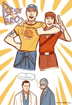 Best bros ever by Nicca11y.deviantart.com  L4D2 and TF2 crossover