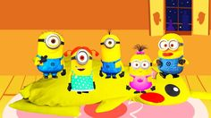Five Little Minions Jumping On The Bed - Nursery Rhymes Cartoon for Kids