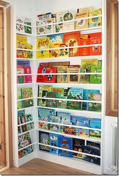 """I'm betting there's a way to do this so it could hang over a door - perfect for when you're renting or want to be able to move the """"library"""""""