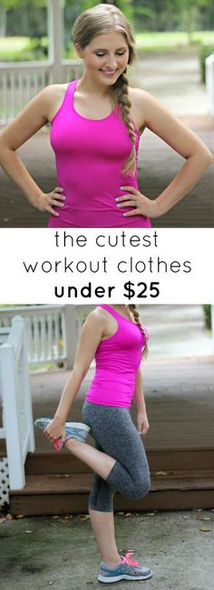 Where to find the CUTEST workout clothes under $25!