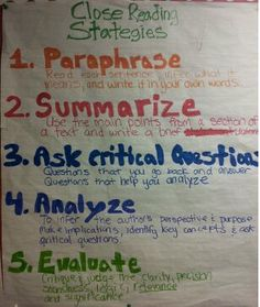 Close Reading Strategies. I'm thinking this would be a good bookmark for me.