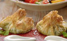 Receita de trouxinha de queijo feta com espinafre - Receita Jamie Oliver