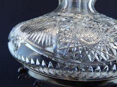 iGavel Auctions: American Brilliant Cut Glass Oil Lamp w/Chimney.John Wanamaker; KC05