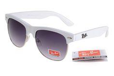 Ray-Ban Clubmaster 95005 White Frame Gray Lens RB99