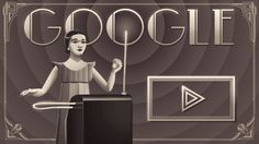 Clara Rockmore Google doodle doubles as a theremin to celebrate musician's 105th birthday