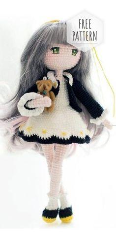 Trendy Ideas For Crochet Amigurumi Free Patterns Doll Sweets Crochet Mignon, Crochet Pig, Crochet Gratis, Cute Crochet, Diy Crochet Doll, Crochet Tops, Crochet Beanie, Chrochet, Doll Amigurumi Free Pattern