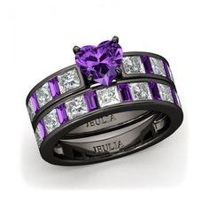 Heart Cubic Zirconia Little Purple Cubic Zirconia 925 Sterling