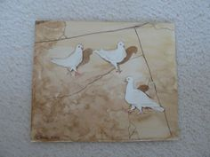 Painting: Watercolour, pigeons