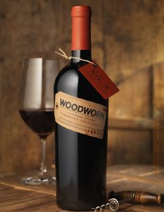 Woodwork Wine Package Design by Pate International Wine Bottle Stoppers, Wine Bottle Crafts, Wine Packaging, Packaging Design, Bottle Shock, Personalized Wine Labels, Different Wines, Wine Label Design, Wine Down