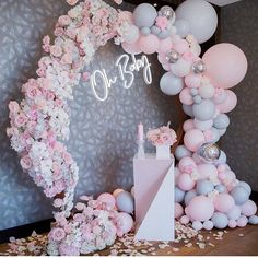 baby shower ideas for boys; baby shower them Cadeau Baby Shower, Idee Baby Shower, Cute Baby Shower Ideas, Girl Shower, Baby Shower Games, Birthday Balloon Decorations, Girl Baby Shower Decorations, Party Decoration, Shower Party