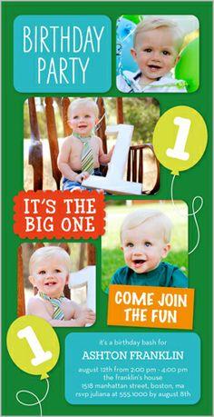 107 best baby boy s 1st birthday invitations images on pinterest