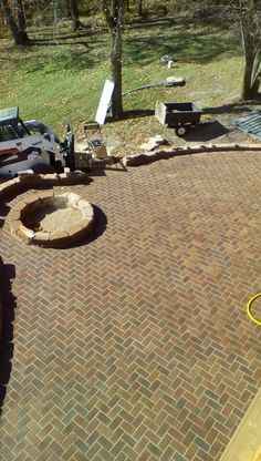 Pavers are done! View from the deck.