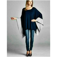 NEW COLOR BLOCK KIMONO New blue and gray kimono ℹLength 27 in ℹWidth 54 inches ℹMade in USA ℹ95% Rayon/5% Spandex Price is final 4 Bidden Boutique Tops