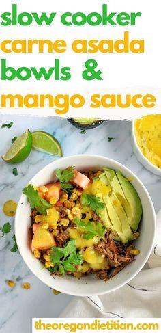 Best Salad Recipes, Top Recipes, Vegetarian Recipes, Healthy Recipes, Healthy Food, Healthy Slow Cooker, Slow Cooker Recipes, Authentic Carne Asada Recipe, Mango Sauce