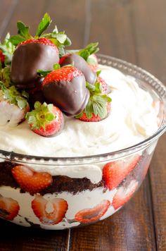 Chocolate Covered Strawberry Trifle http://www.somethingswanky.com/chocolate-covered-strawberry-trifle/?utm_campaign=coschedule&utm_source=pinterest&utm_medium=Something%20Swanky&utm_content=Chocolate%20Covered%20Strawberry%20Trifle