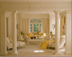 .white and yellow room, DELICIOUS, throw in a horse weathervane and perfection