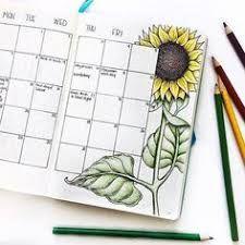 Image result for bullet journal sunflower