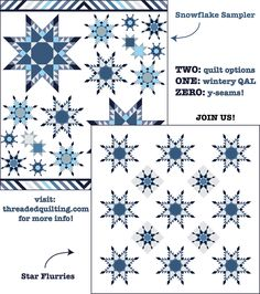 Great Quilt Along coming up! Jessie's no y-seam feathered stars are so fun to make!