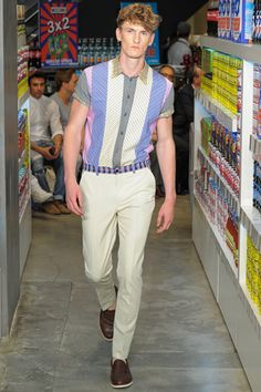 Moschino Spring 2013 Menswear Collection Slideshow on Style.com