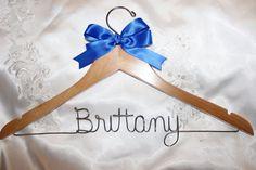 Bridal hanger  bridesmaid hanger  by HangingMemories4ever on Etsy